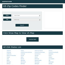 Map of United States Postal Code Finder - ASKPOSTCODE