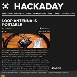 Loop Antenna Is Portable