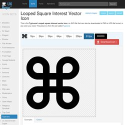 Looped square interest vector icon