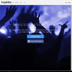 looplabs. free online music mixing software. created by crashmedia.com