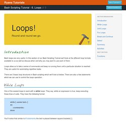 Loops - Bash Scripting Tutorial