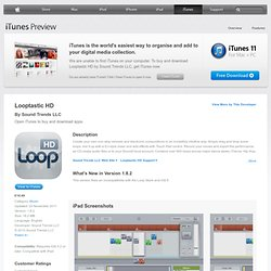Looptastic HD for iPad on the iTunes App Store