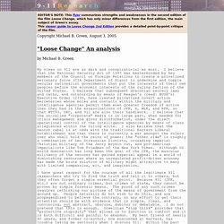 'Loose Change' An analysis, by Michael B. Green