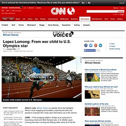 Lopez Lomong: From war child to U.S. Olympics star