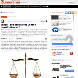 Loppsi : que peut dire le Conseil constitutionnel ?