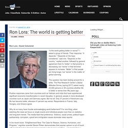 Ron Lora: The world is getting better - The Lima News
