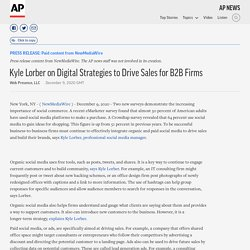 Kyle Lorber on Digital Strategies to Drive Sales for B2B Firms