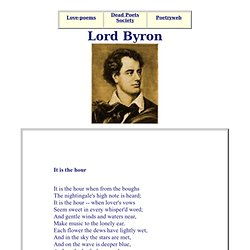 Lord Byron - Romantic poetry