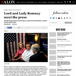 Lord and Lady Romney meet the press