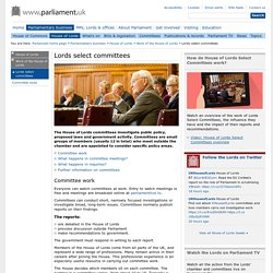 Lords select committees