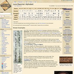 Dwemer Alphabet