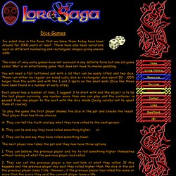 Lore and Saga. The Ancient Dice Game of Mia.