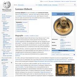 Premier autoportrait sculpté : Lorenzo Ghiberti