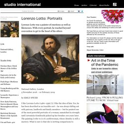 Lorenzo Lotto: Portraits