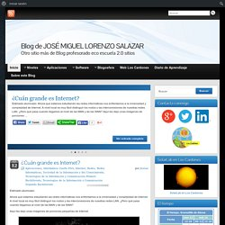 Blog de JOSÉ MIGUEL LORENZO SALAZAR » Otro sitio más de Blog profesorado eco escuela 2.0 sitios