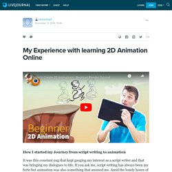 My Experience with learning 2D Animation Online: loreonline1 — LiveJournal