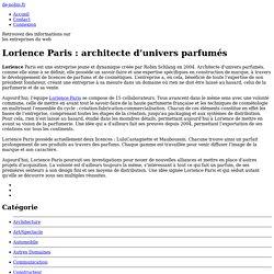 Lorience Paris : architecte d'univers parfumés - de-nobis.fr
