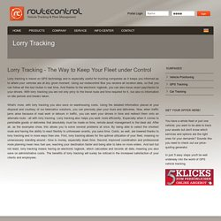 Lorry Tracking-Track Anything With GPS Asset Tracking
