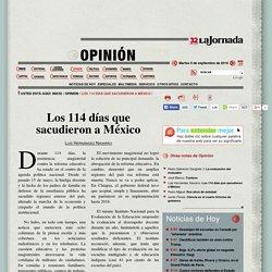 Los 114 días que sacudieron a México
