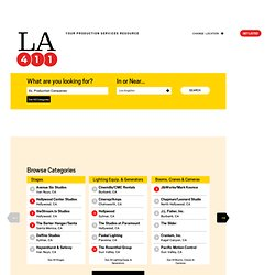 LA's only qualified Film, TV & Commercial Production Resource