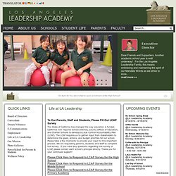 Los Angeles Leadership Academy | Tomorrow's Leaders, Today