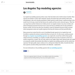 Los Angeles Top modeling agencies
