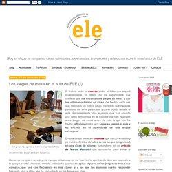 El rincón del profesor de ELE: Los juegos de mesa en el aula de ELE (I)