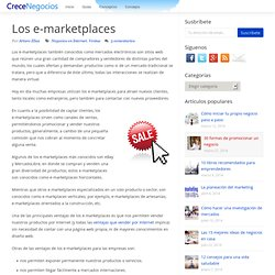 Los e-marketplaces