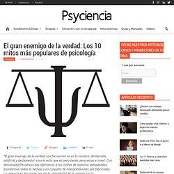 Los 10 mitos de la psicología popular