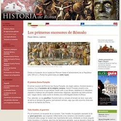 Los primeros reyes de Roma