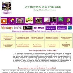Los principios de la evaluación