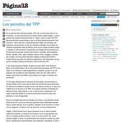 Pagina12 21/10/15 - Los secretos del TPP