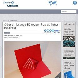 Créer un losange 3D rouge - Pop-up lignes parallèles
