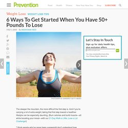 How To Lose 50 Pounds