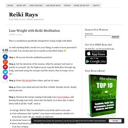 Lose Weight with Reiki Meditation