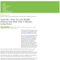 How to Lose Weight without Diet with Lying Down