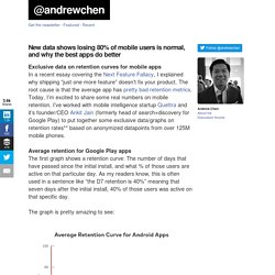 New data shows losing 80% of mobile users is normal, and why the best apps do better at andrewchen