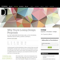 Why You're Losing Design Proposals