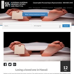 Losing a loved one in Hawaii