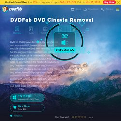 DVDFab DVD Cinavia Removal — the first near-lossless DVD Cinavia removal solution to remove Cinavia watermarks from affected DVDs.
