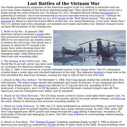 Lost Battles of the Vietnam War