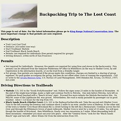 Lost Coast Backpacking Trip - StumbleUpon