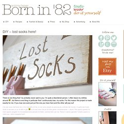DIY – Lost Socks Board