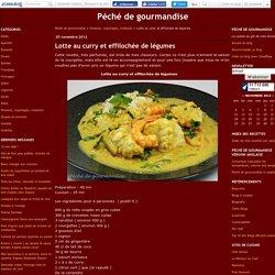 Lotte au curry et effilochée de légumes