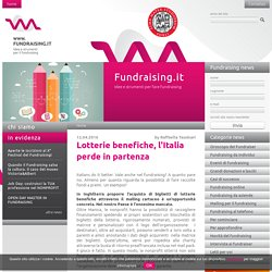 Lotterie benefiche, l'Italia perde in partenza - Fundraising.it