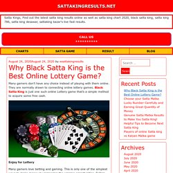 Why Black Satta King is the Best Online Lottery Game?