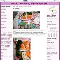 lotus'o bento - bento , lunchbox , pique nique etc...