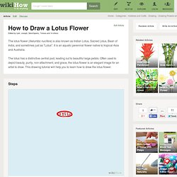 How to Draw a Lotus Flower: 7 Steps