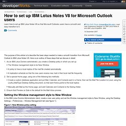 How to set up IBM Lotus Notes V8 for Microsoft Outlook users
