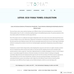 Lotus: eco yoga towel collection